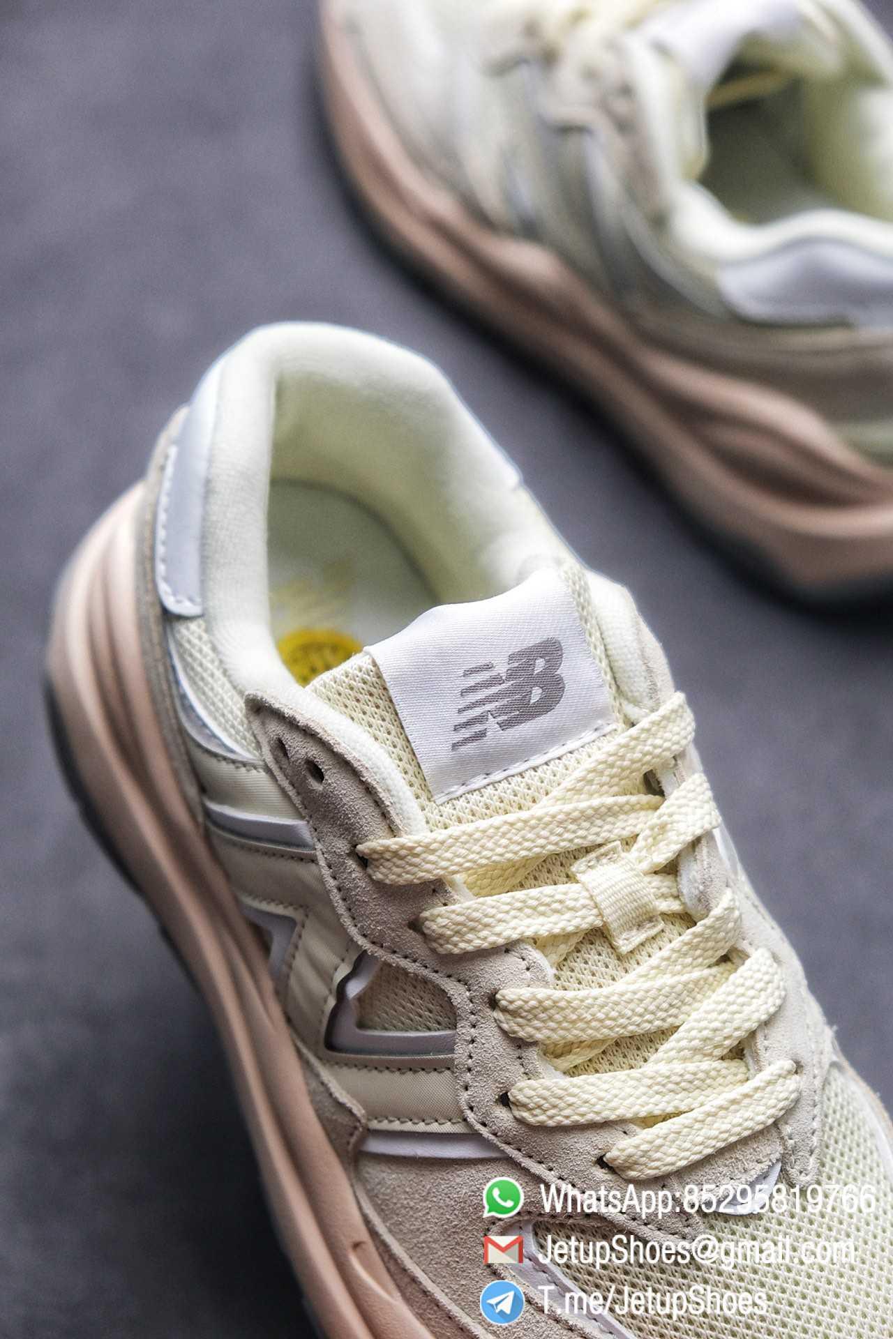 Best Replica New Balance 5740 Beige Cream SKU W5740CE Mesh Shell Suede Upper Big N Logo Pink Boot Top Quality Supplier 07