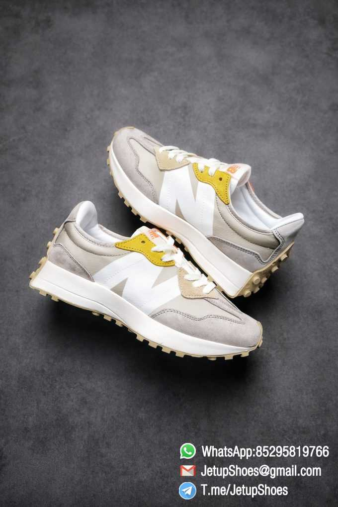 Best Replica New Balance Wmns 327 Light Grey Grey Khaki Upper SKU WS327MS RepSneakers Top Snkrs 01