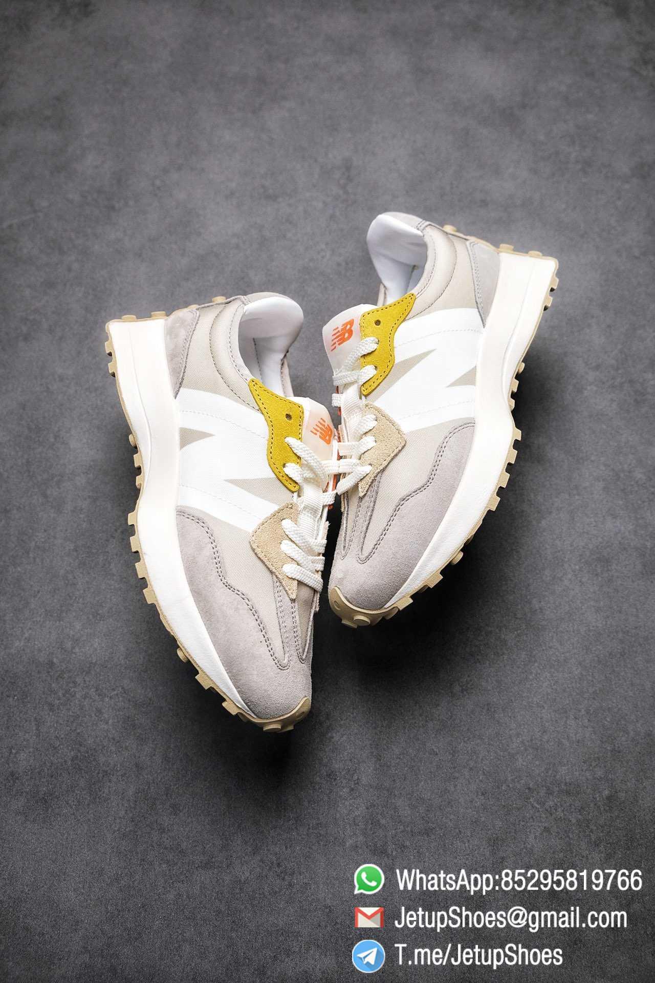 Best Replica New Balance Wmns 327 Light Grey Grey Khaki Upper SKU WS327MS RepSneakers Top Snkrs 03
