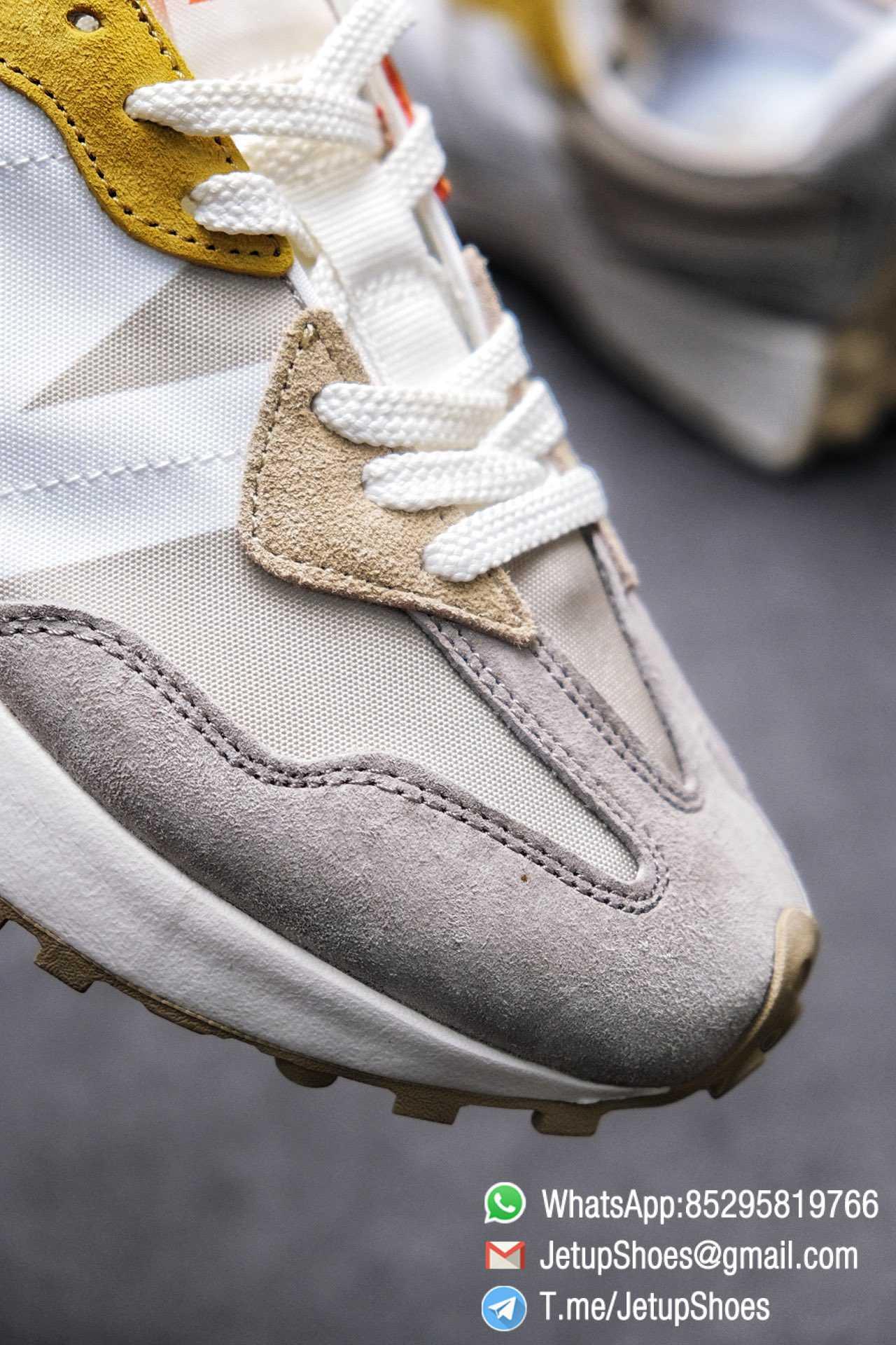 Best Replica New Balance Wmns 327 Light Grey Grey Khaki Upper SKU WS327MS RepSneakers Top Snkrs 05