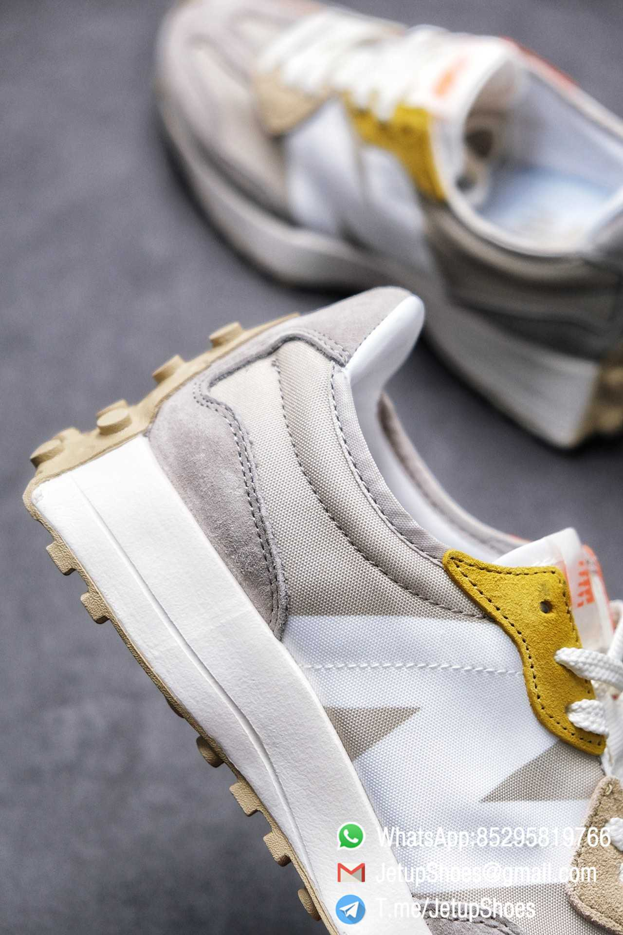 Best Replica New Balance Wmns 327 Light Grey Grey Khaki Upper SKU WS327MS RepSneakers Top Snkrs 06