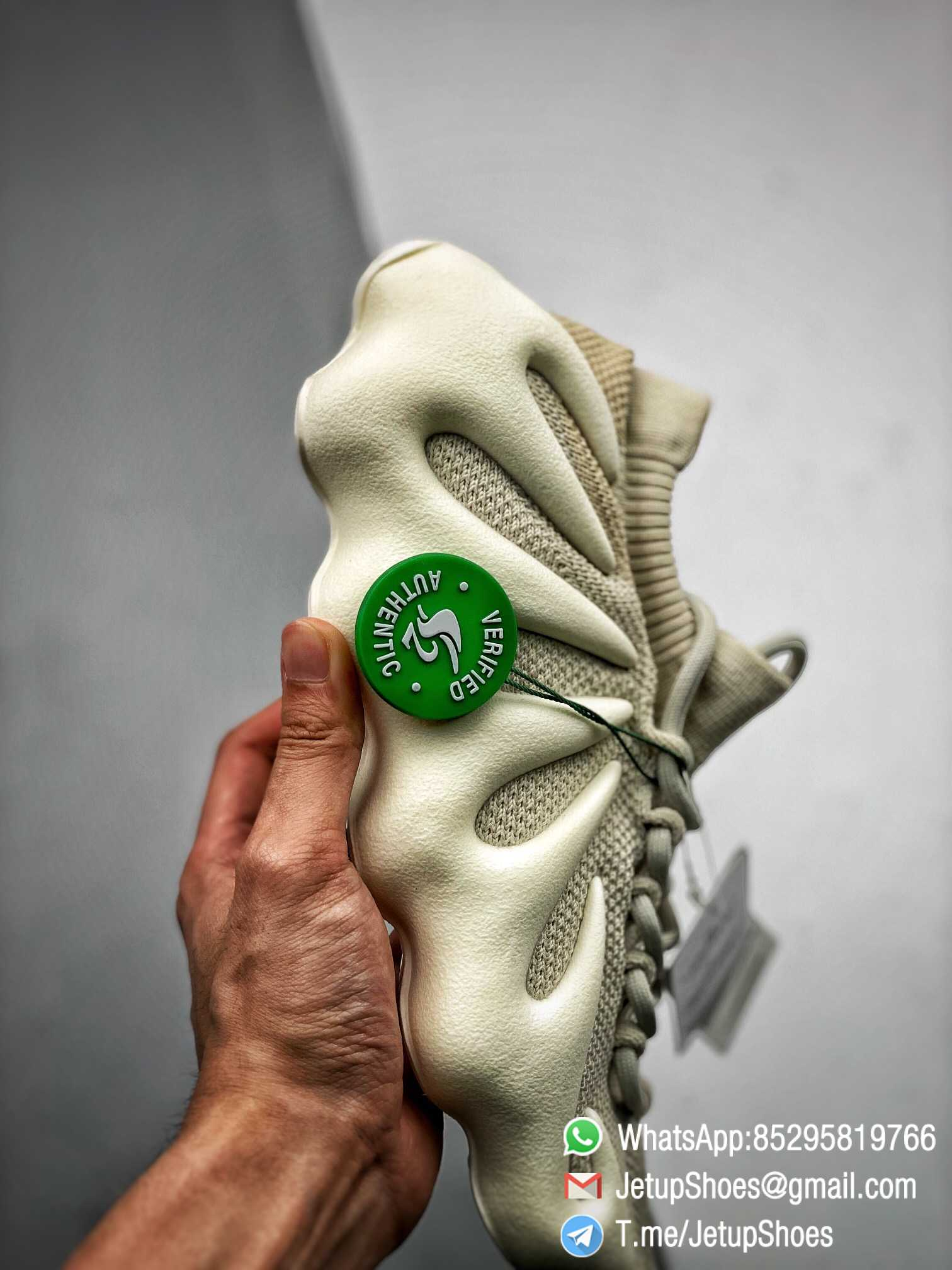 Best Replica adidas Yeezy 450 Cloud White Sneakers S2 Pure RepSneakers Top Quality Snkrs 03