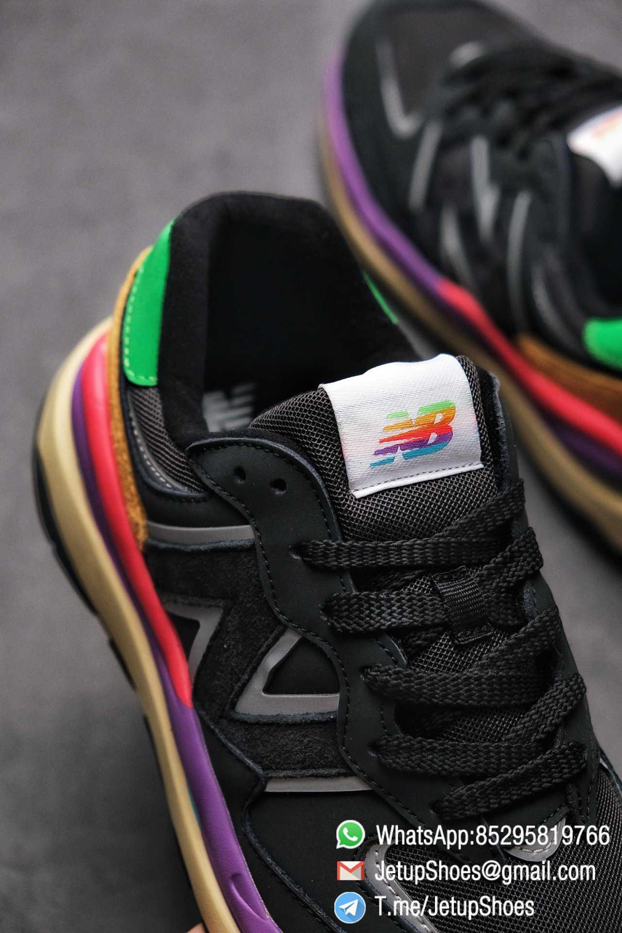 New Balance 5740 Black Multicolor Running Sneakers M5740LB Black Mesh Upper Oriange Suede Oversized N 05