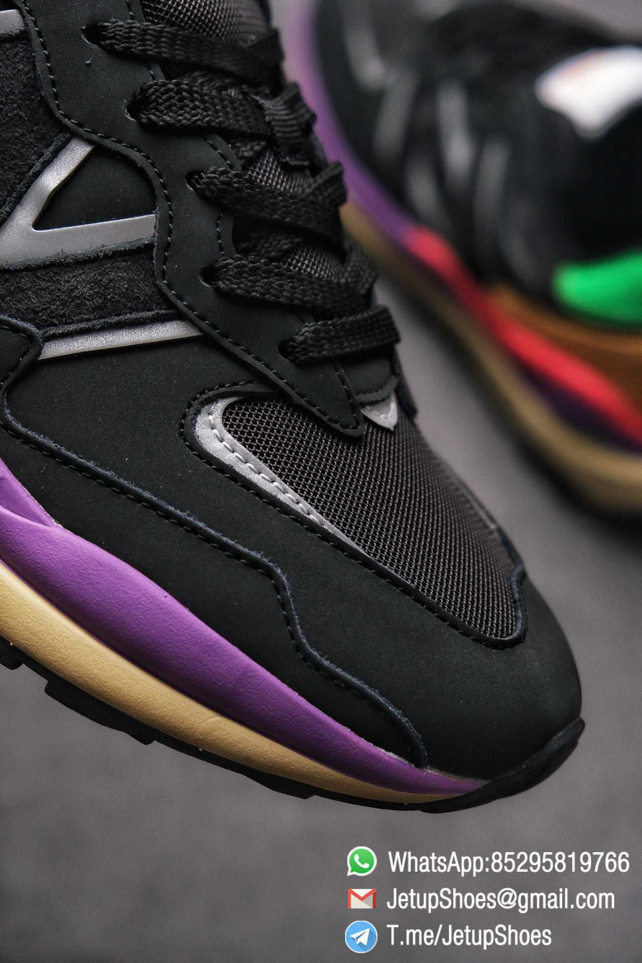 New Balance 5740 Black Multicolor Running Sneakers M5740LB Black Mesh Upper Oriange Suede Oversized N 06