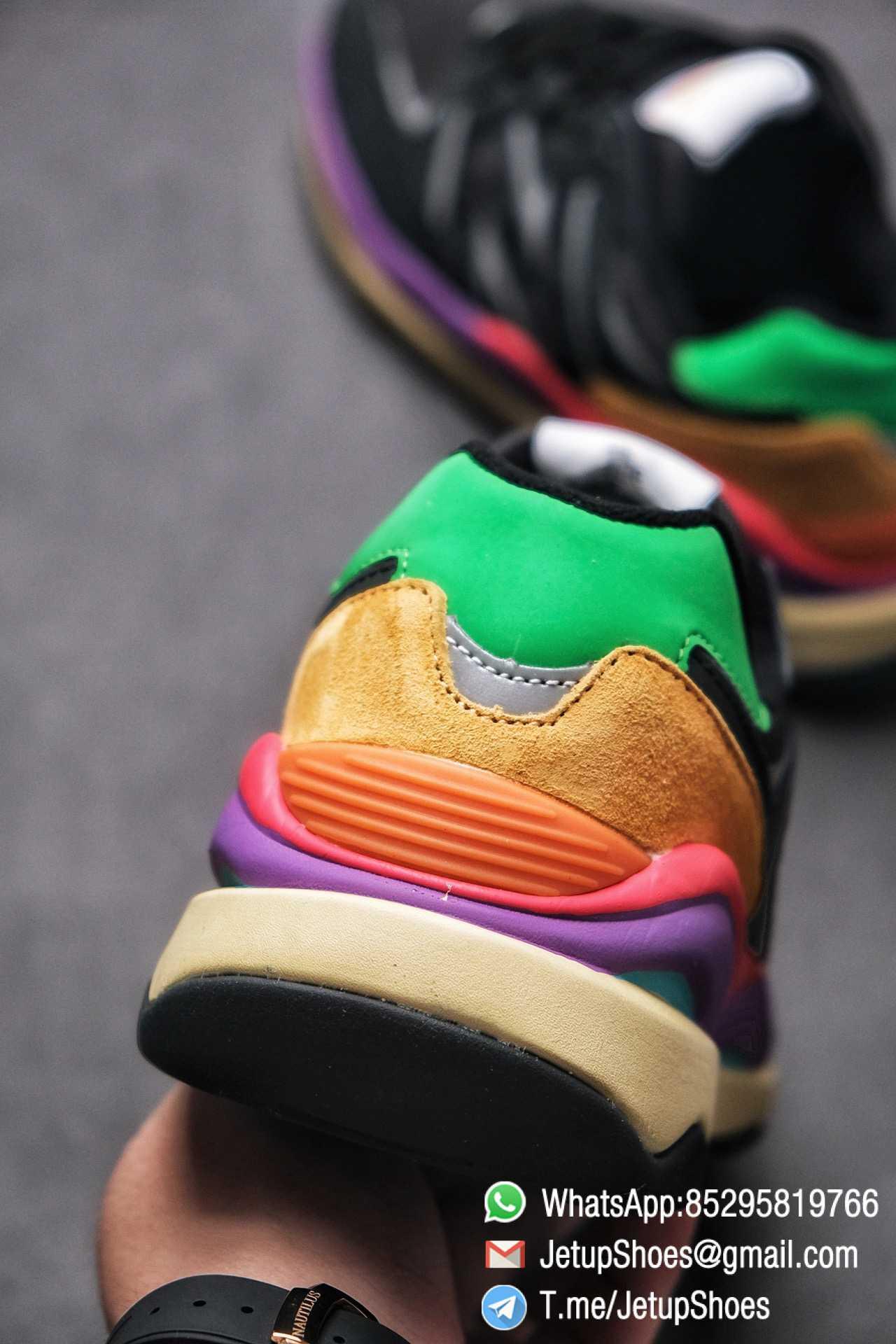 New Balance 5740 Black Multicolor Running Sneakers M5740LB Black Mesh Upper Oriange Suede Oversized N 08