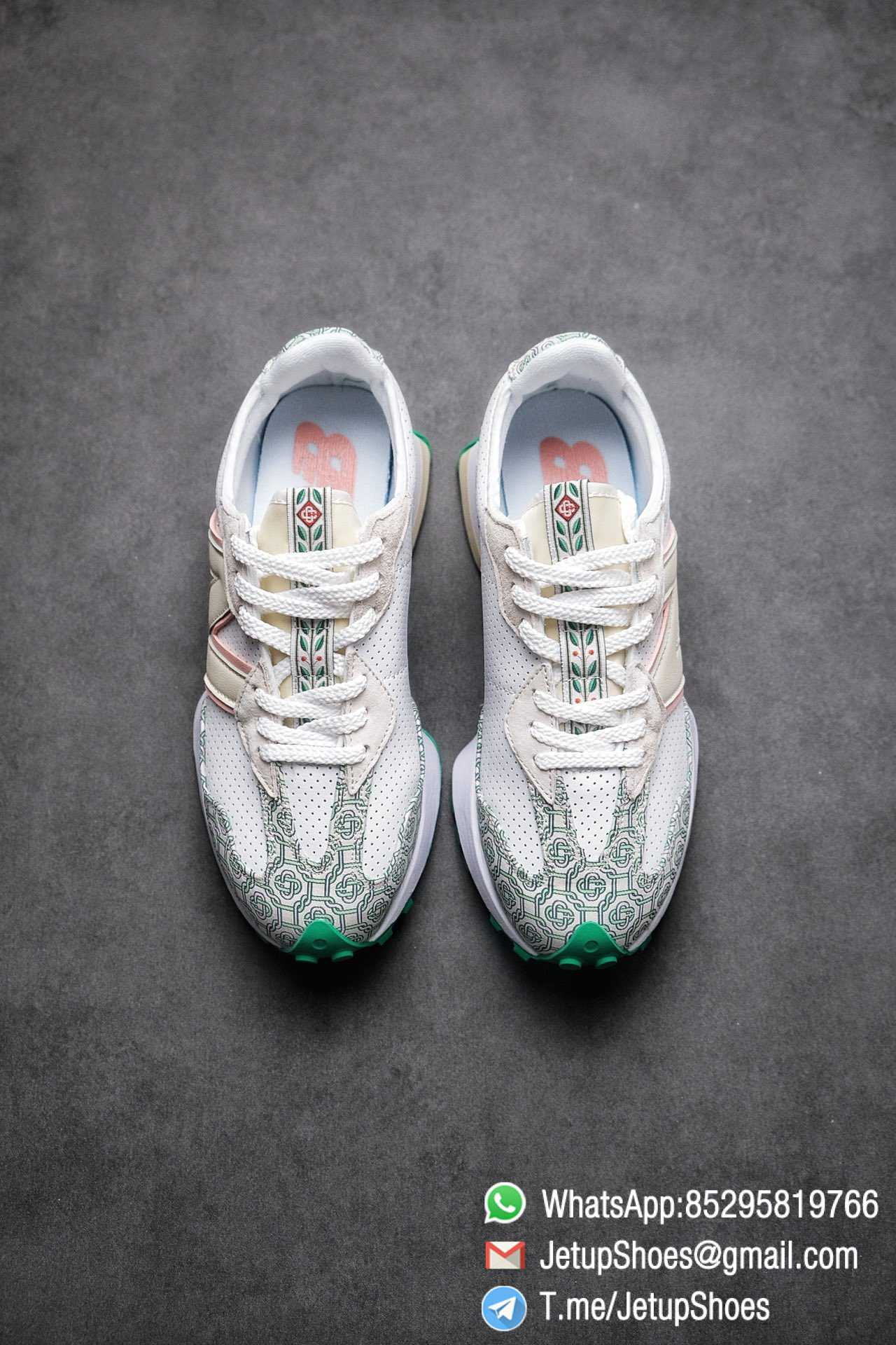 Replica Sneakers New Balance 327 Casablanca x 327 Munsell White Green Retro Running Shoes SKU MS327CAB Best RepSneakers 02