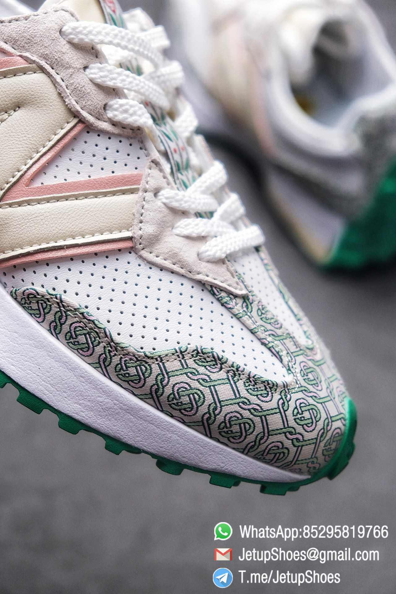 Replica Sneakers New Balance 327 Casablanca x 327 Munsell White Green Retro Running Shoes SKU MS327CAB Best RepSneakers 05
