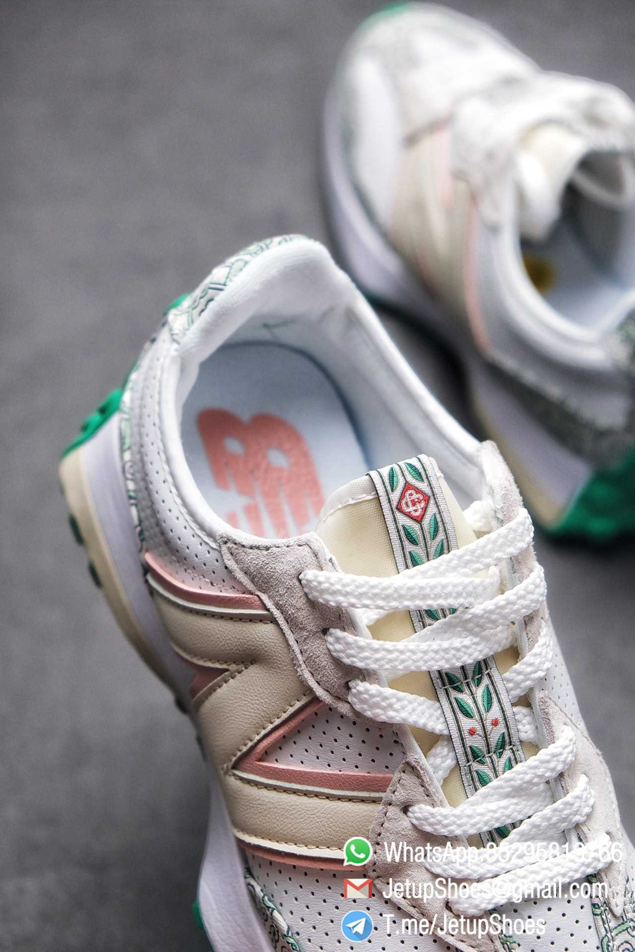 Replica Sneakers New Balance 327 Casablanca x 327 Munsell White Green Retro Running Shoes SKU MS327CAB Best RepSneakers 06