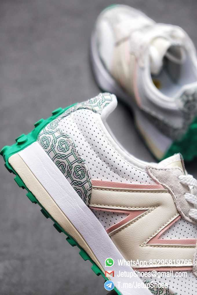 Replica Sneakers New Balance 327 Casablanca x 327 Munsell White Green Retro Running Shoes SKU MS327CAB Best RepSneakers 07