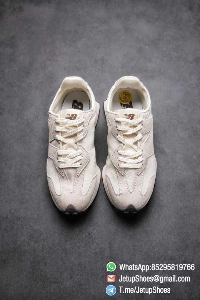 Replica Sneakers New Balance 327 Noritake x 327 Light Grey White Mesh Quarter Suede Upper Retro Running Shoes SKU WS327FB 02