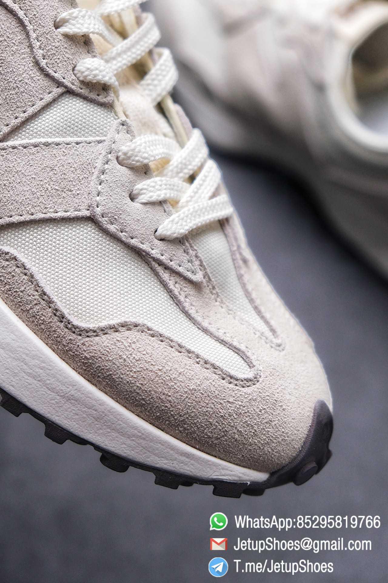Replica Sneakers New Balance 327 Noritake x 327 Light Grey White Mesh Quarter Suede Upper Retro Running Shoes SKU WS327FB 05