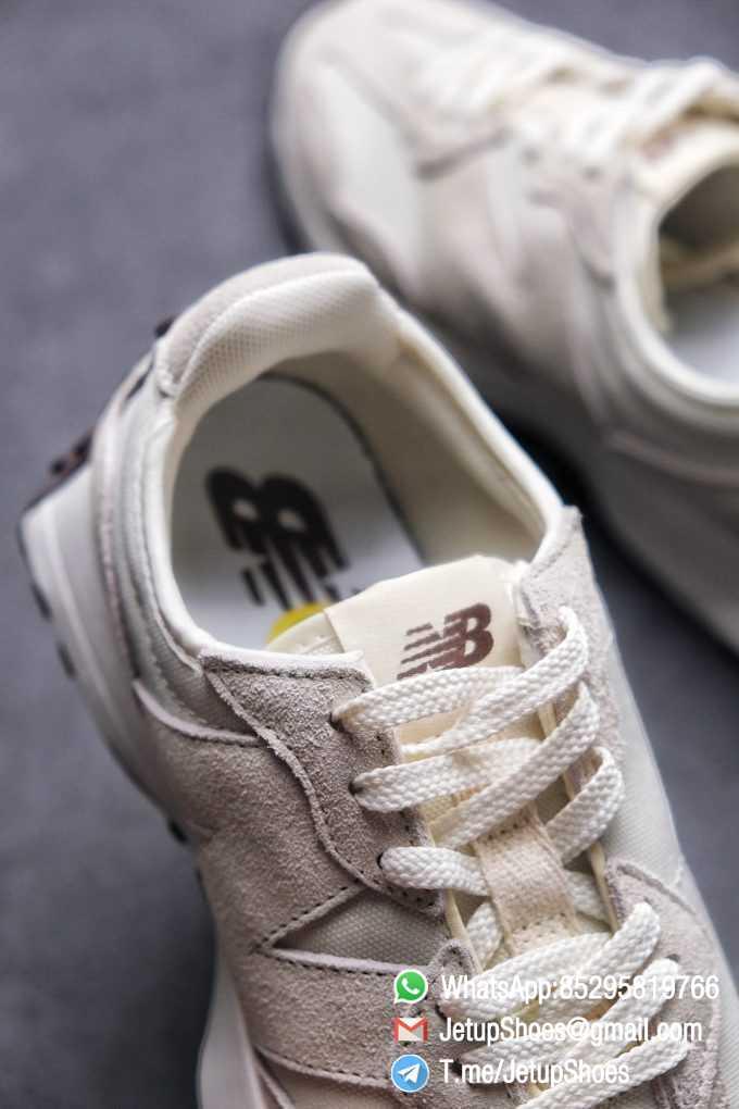 Replica Sneakers New Balance 327 Noritake x 327 Light Grey White Mesh Quarter Suede Upper Retro Running Shoes SKU WS327FB 07