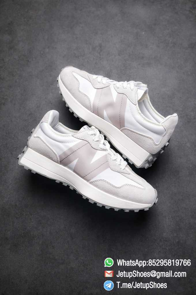Replica Sneakers New Balance 327 Noritake x 327 Light Grey White Retro Running Shoes SKU MS327NW1 Best RepSneakers 01