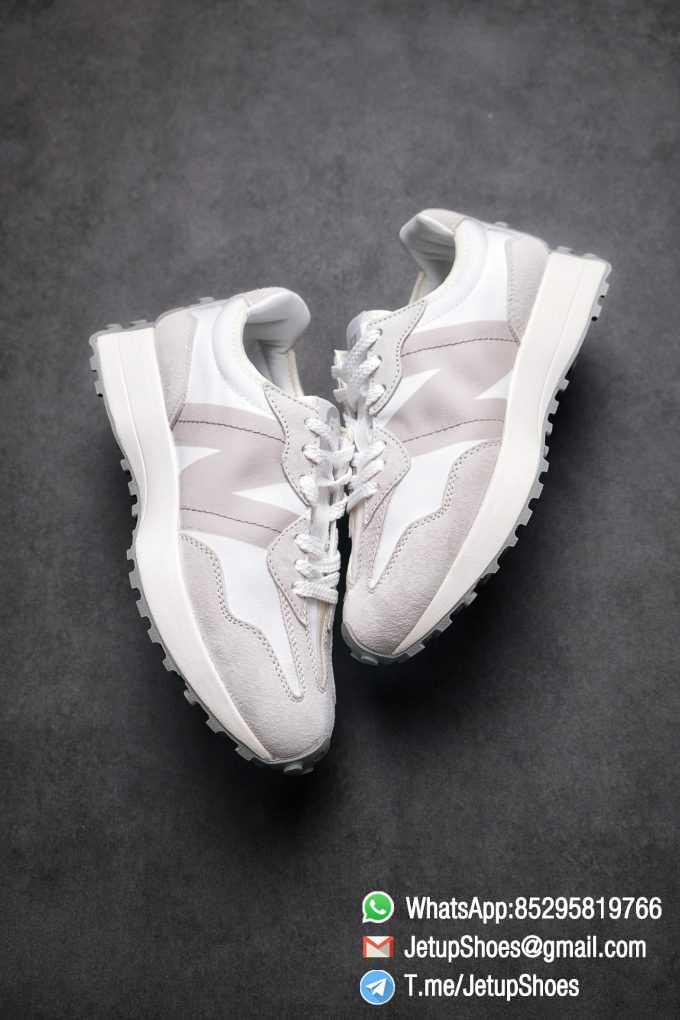 Replica Sneakers New Balance 327 Noritake x 327 Light Grey White Retro Running Shoes SKU MS327NW1 Best RepSneakers 03