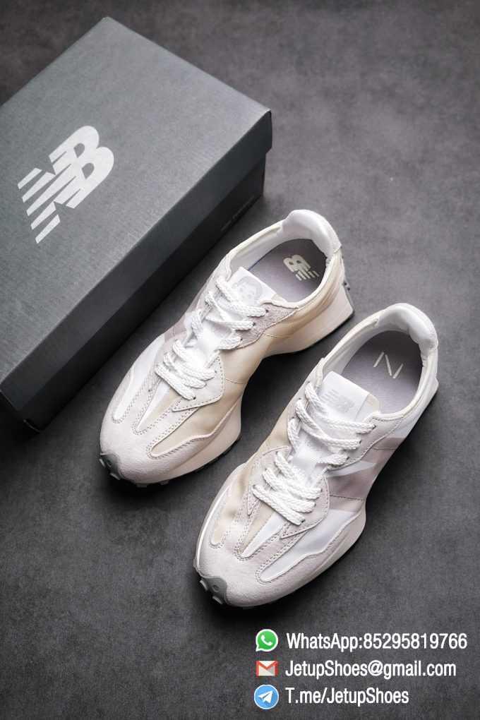 Replica Sneakers New Balance 327 Noritake x 327 Light Grey White Retro Running Shoes SKU MS327NW1 Best RepSneakers 04