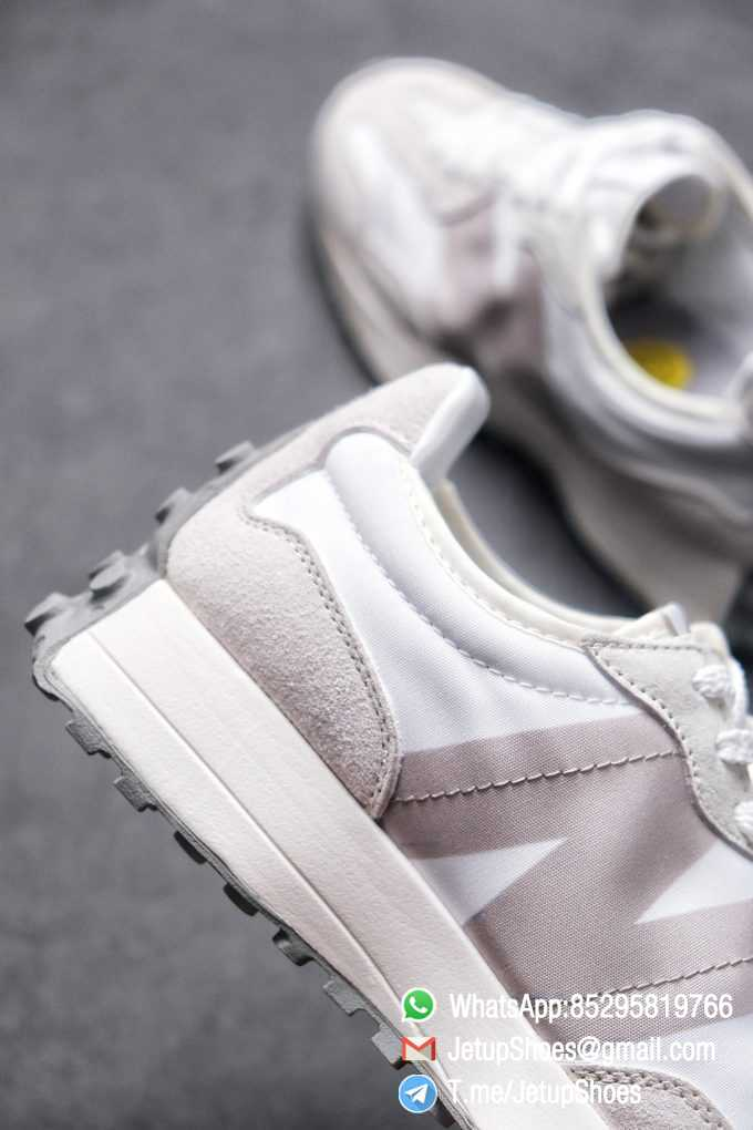 Replica Sneakers New Balance 327 Noritake x 327 Light Grey White Retro Running Shoes SKU MS327NW1 Best RepSneakers 05