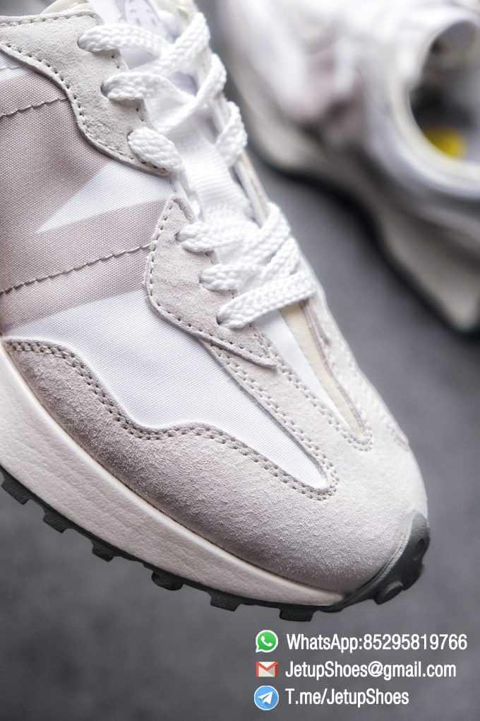 Replica Sneakers New Balance 327 Noritake x 327 Light Grey White Retro Running Shoes SKU MS327NW1 Best RepSneakers 06