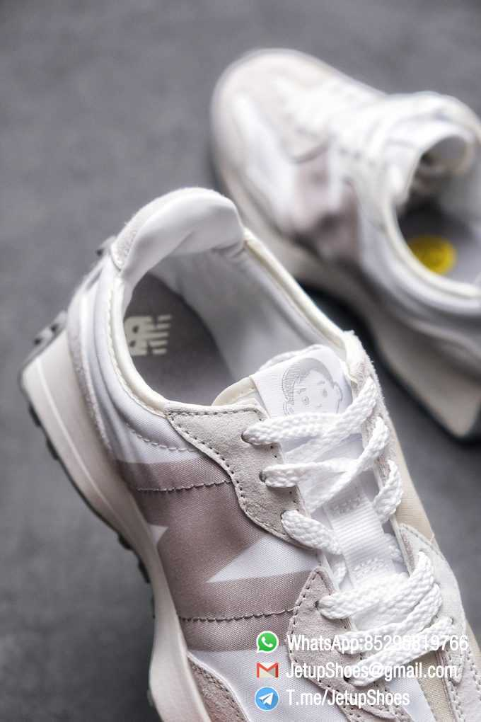 Replica Sneakers New Balance 327 Noritake x 327 Light Grey White Retro Running Shoes SKU MS327NW1 Best RepSneakers 07