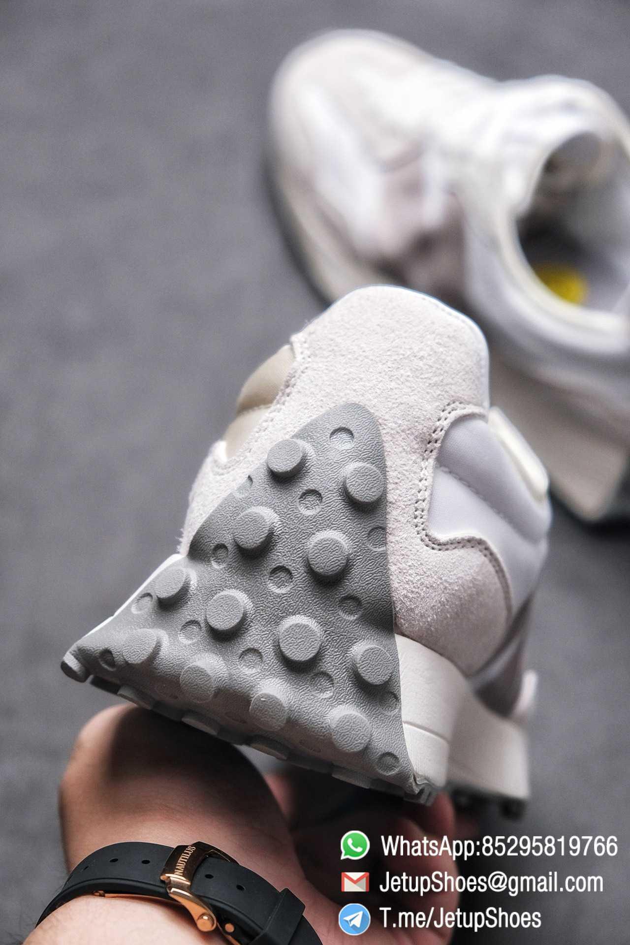 Replica Sneakers New Balance 327 Noritake x 327 Light Grey White Retro Running Shoes SKU MS327NW1 Best RepSneakers 08