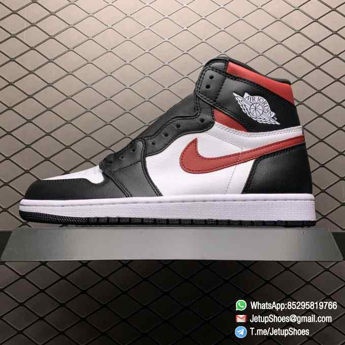Air Jordan 1 Retro High OG Gym Red SKU 555088 061 Remixes Iconic Color Scheme Upper Best Replica Support Sneakers 01