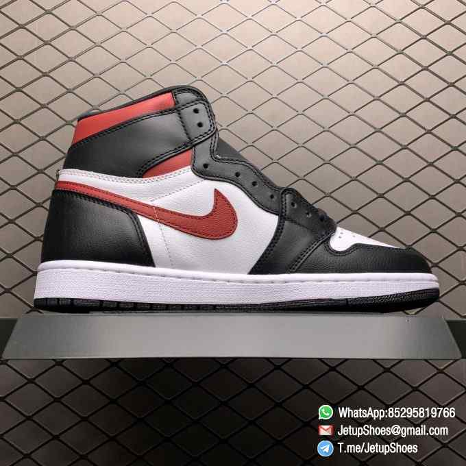 Air Jordan 1 Retro High OG Gym Red SKU 555088 061 Remixes Iconic Color Scheme Upper Best Replica Support Sneakers 02