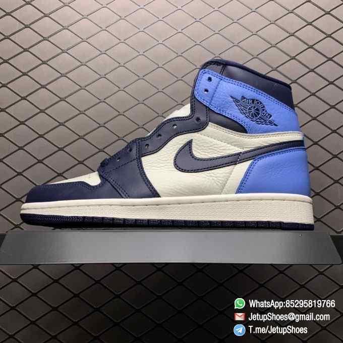 Air Jordan 1 Retro High OG Obsidian UNC SKU 555088 140 Color block Palette leather upper Best Replica Snkrs 01