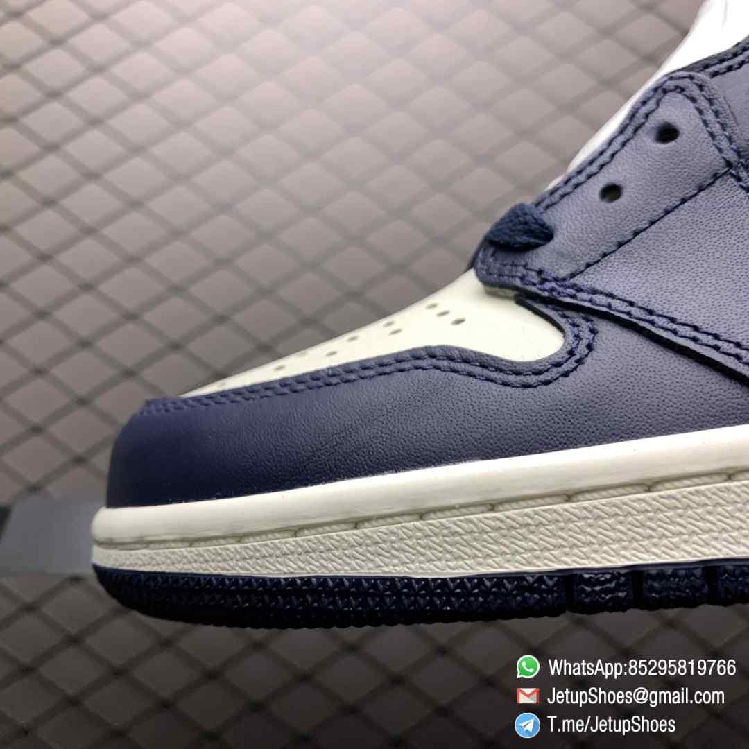 Air Jordan 1 Retro High OG Obsidian UNC SKU 555088 140 Color block Palette leather upper Best Replica Snkrs 03