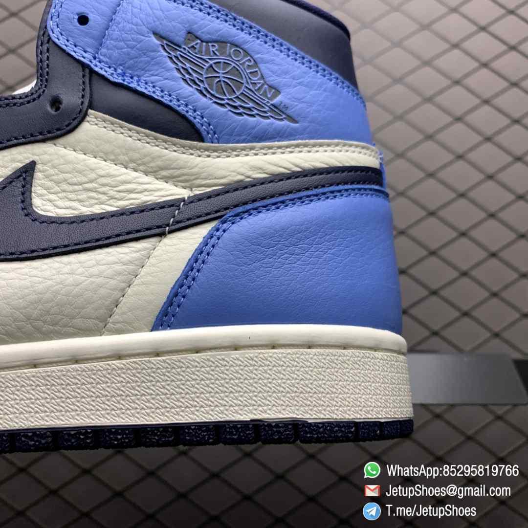 Air Jordan 1 Retro High OG Obsidian UNC SKU 555088 140 Color block Palette leather upper Best Replica Snkrs 04