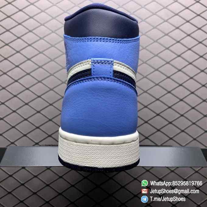 Air Jordan 1 Retro High OG Obsidian UNC SKU 555088 140 Color block Palette leather upper Best Replica Snkrs 07
