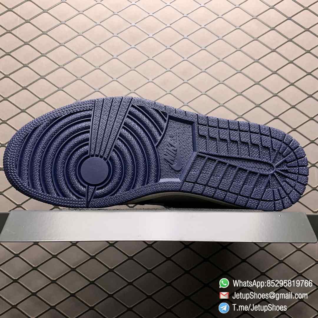 Air Jordan 1 Retro High OG Obsidian UNC SKU 555088 140 Color block Palette leather upper Best Replica Snkrs 08