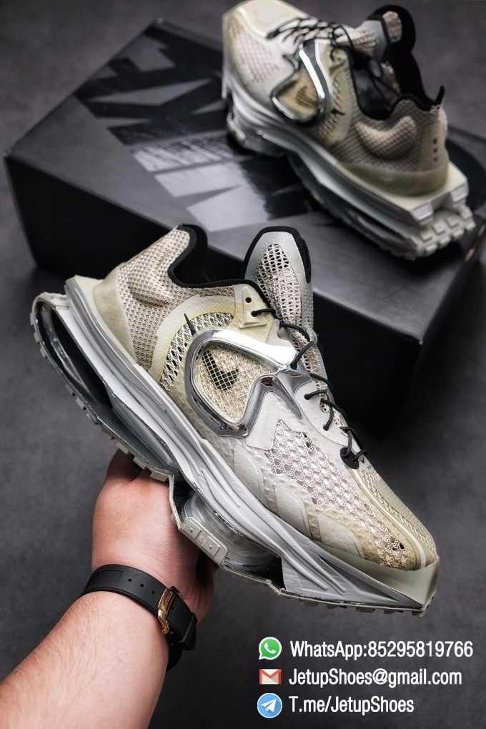 Best Replica Sneakers Matthew M Williams x Nike Zoom 004 Stone CU0676 200 Top Sneakers 01