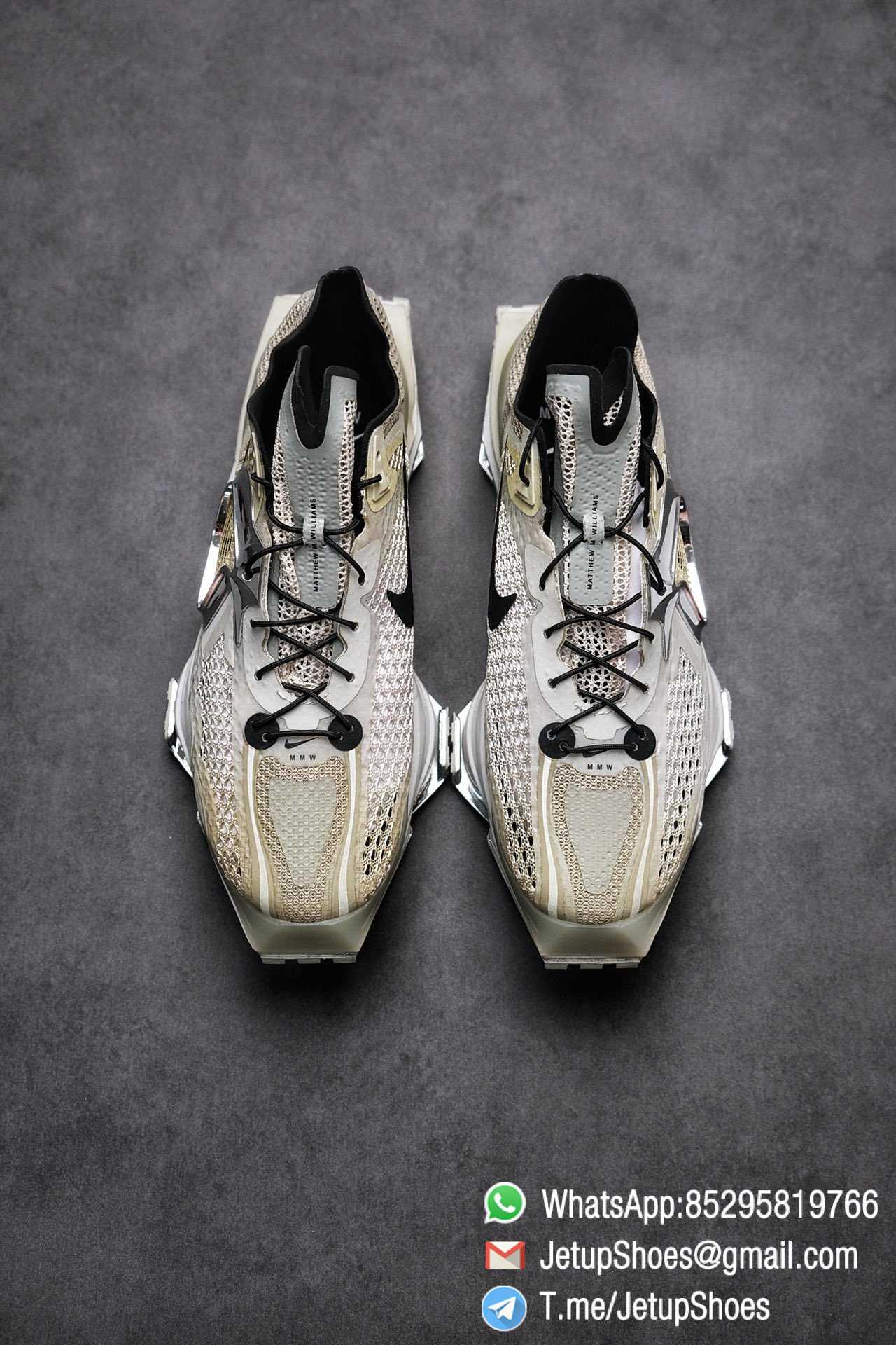 Best Replica Sneakers Matthew M Williams x Nike Zoom 004 Stone CU0676 200 Top Sneakers 018