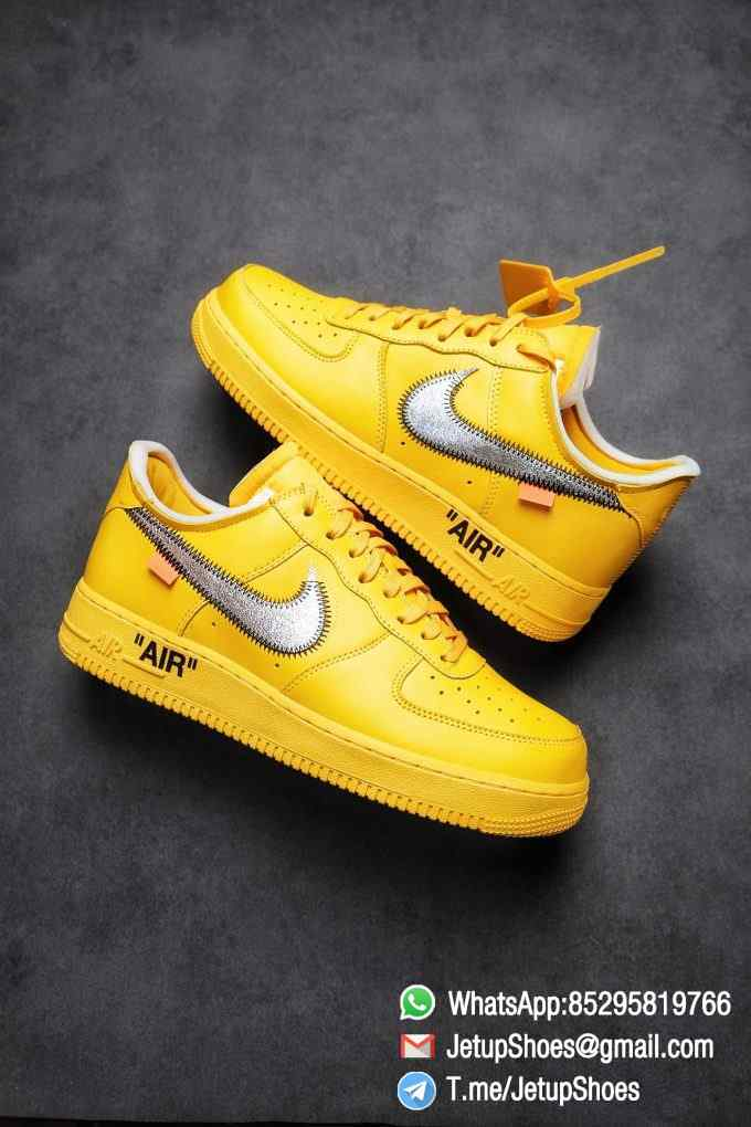 Best Replica Sneakers Off White x Air Force 1 Low University Gold SKU DD1876 700 Top Quality Basketball Shoes 01 1