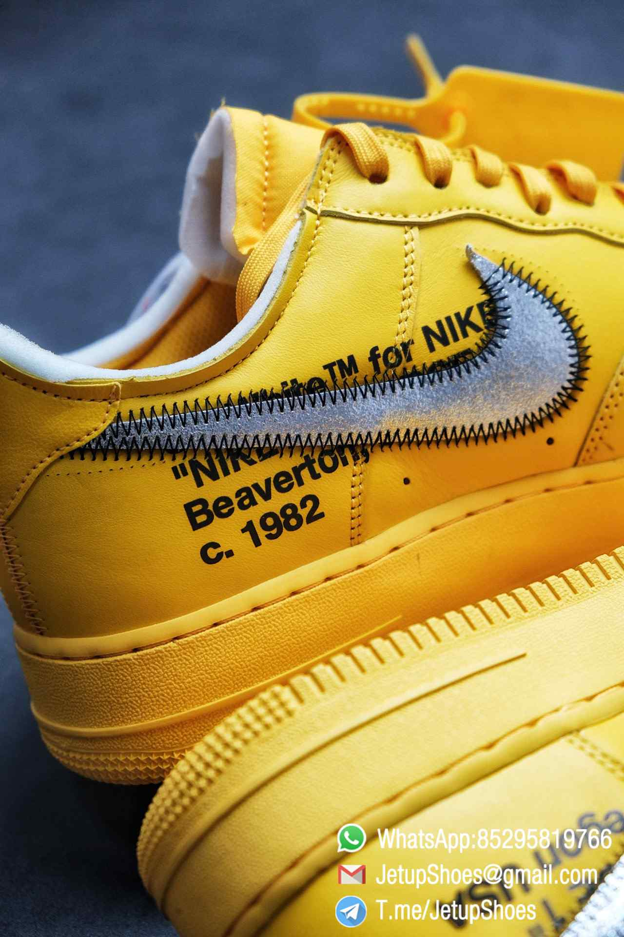Best Replica Sneakers Off White x Air Force 1 Low University Gold SKU DD1876 700 Top Quality Basketball Shoes 012