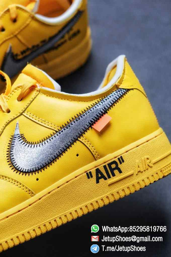 Best Replica Sneakers Off White x Air Force 1 Low University Gold SKU DD1876 700 Top Quality Basketball Shoes 013