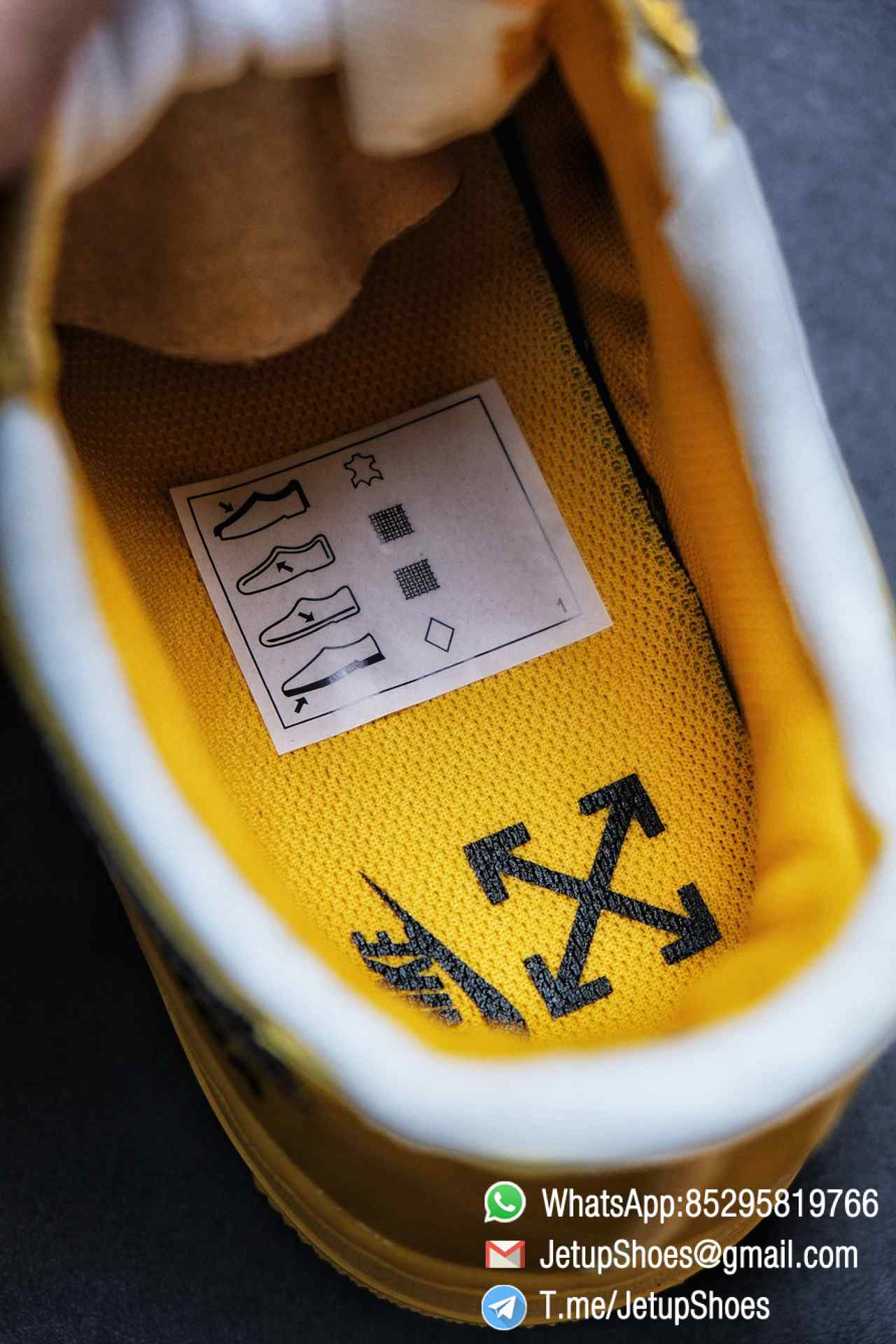 Best Replica Sneakers Off White x Air Force 1 Low University Gold SKU DD1876 700 Top Quality Basketball Shoes 017