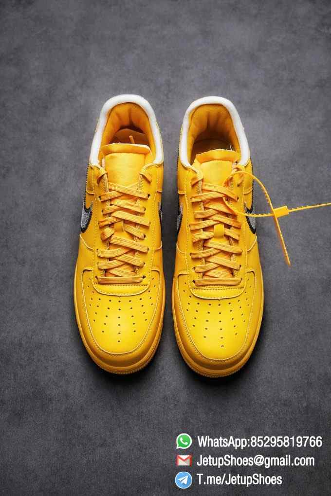 Best Replica Sneakers Off White x Air Force 1 Low University Gold SKU DD1876 700 Top Quality Basketball Shoes 02