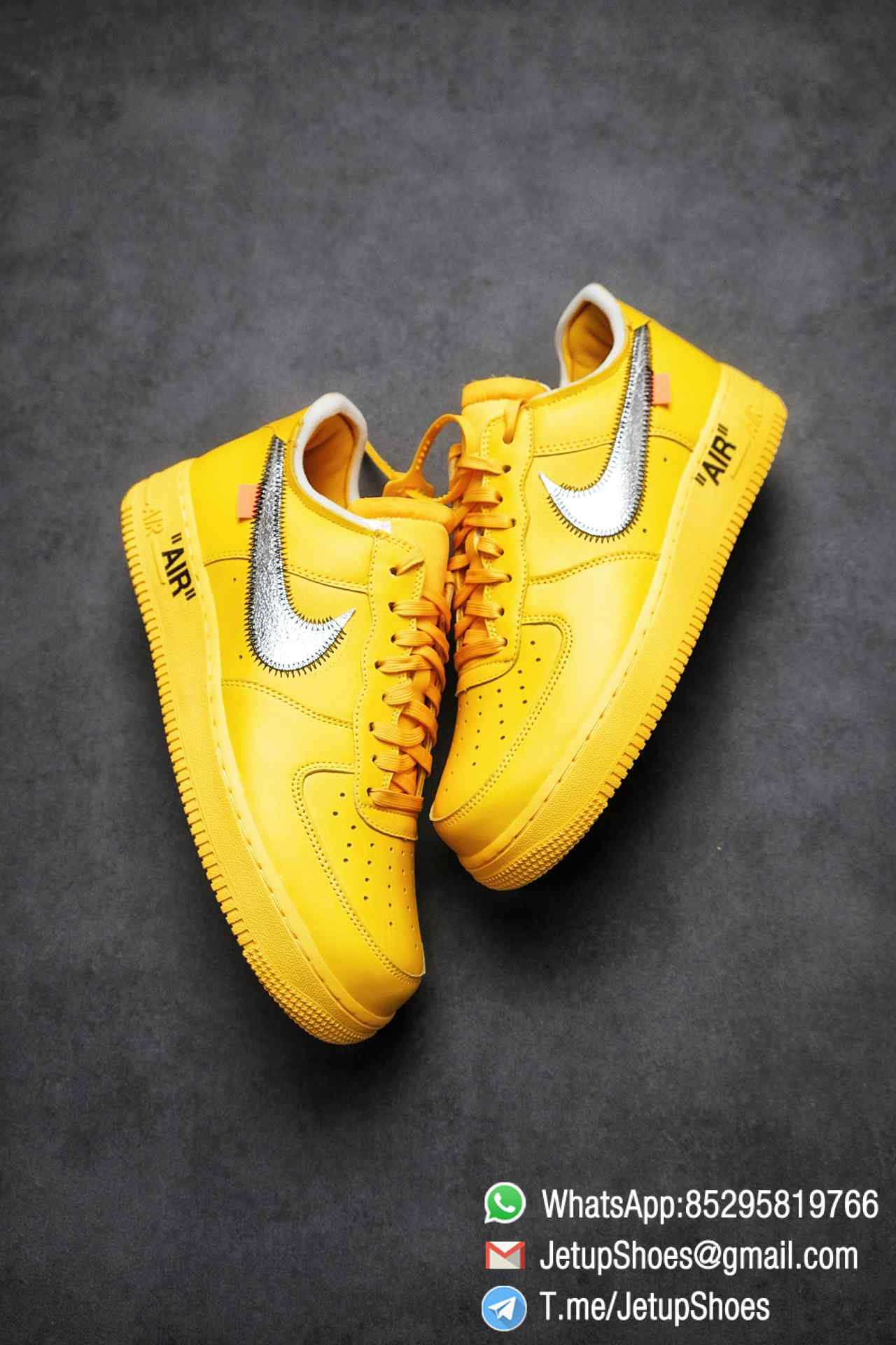 Best Replica Sneakers Off White x Air Force 1 Low University Gold SKU DD1876 700 Top Quality Basketball Shoes 03