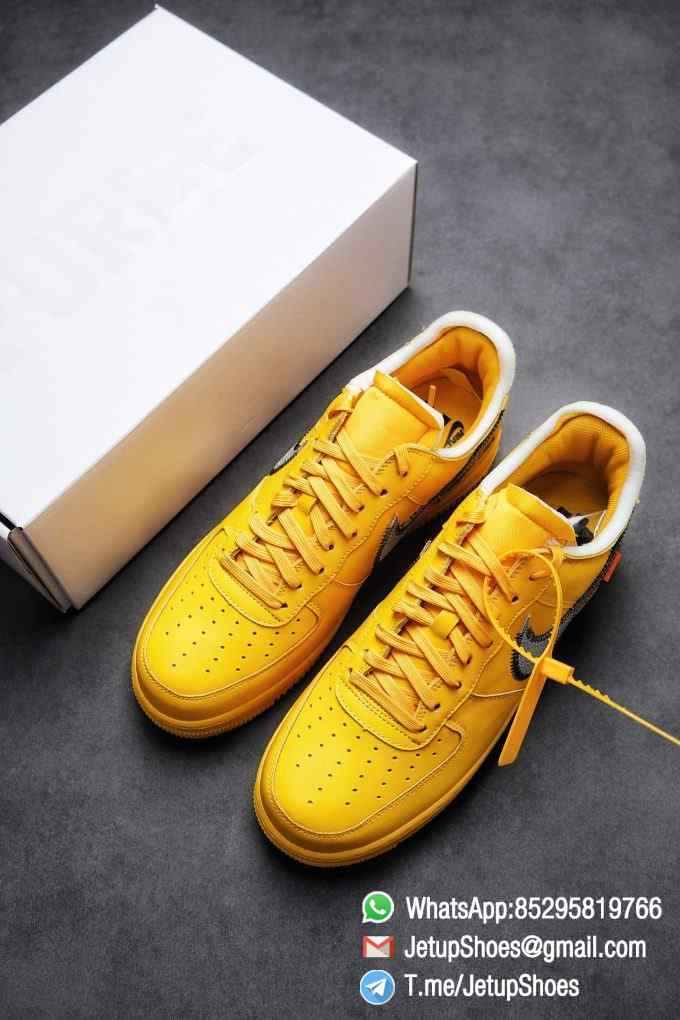 Best Replica Sneakers Off White x Air Force 1 Low University Gold SKU DD1876 700 Top Quality Basketball Shoes 04