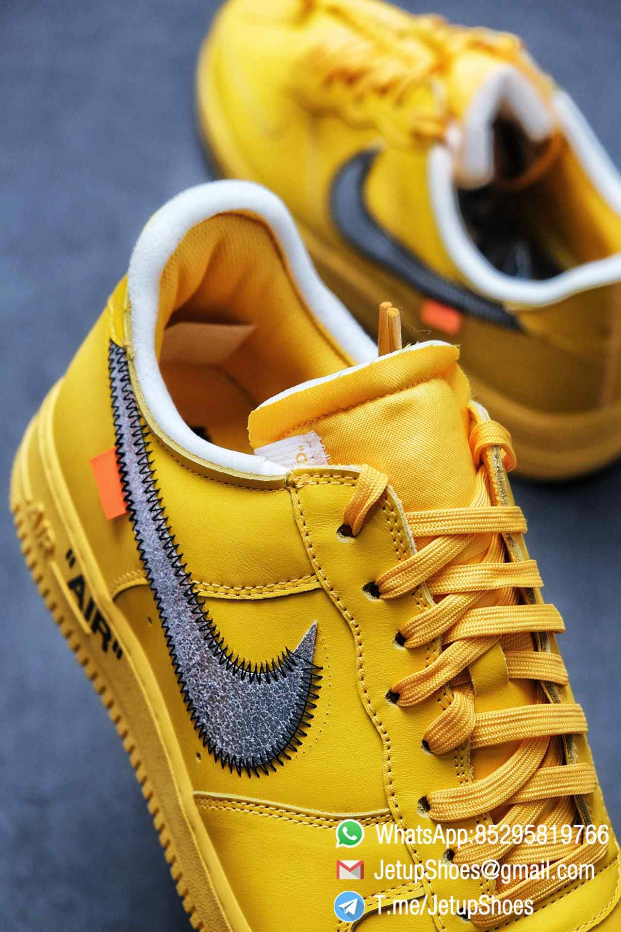 Best Replica Sneakers Off White x Air Force 1 Low University Gold SKU DD1876 700 Top Quality Basketball Shoes 05