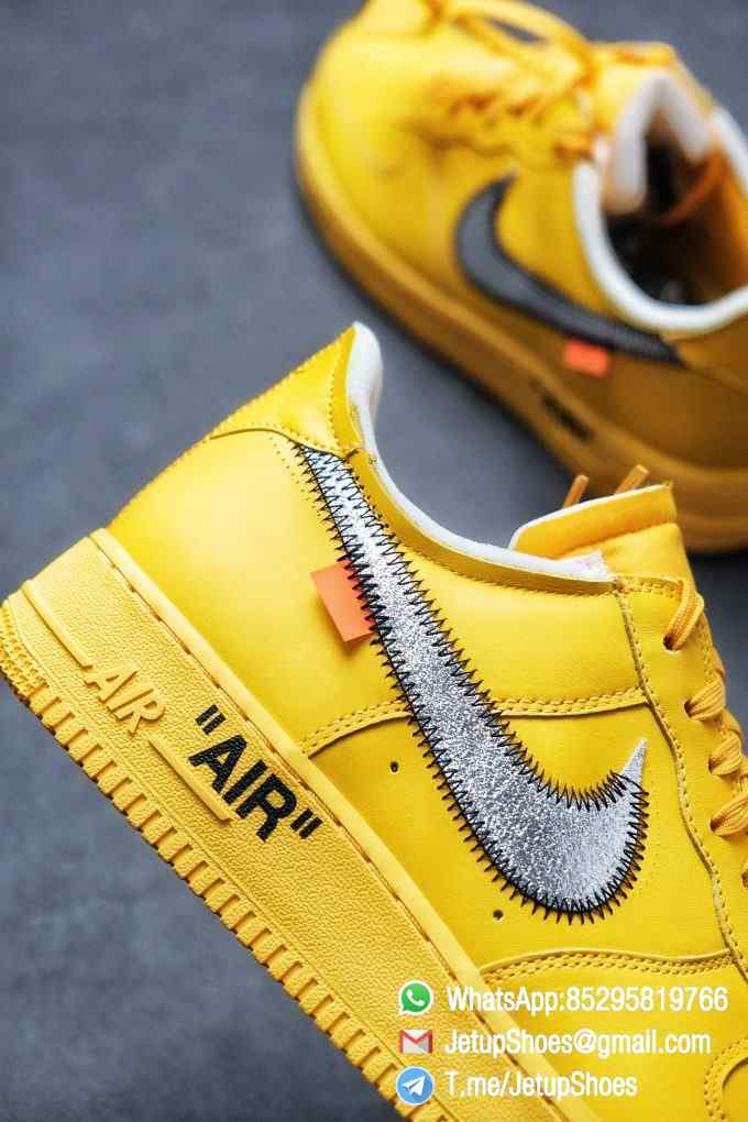 Best Replica Sneakers Off White x Air Force 1 Low University Gold SKU DD1876 700 Top Quality Basketball Shoes 07