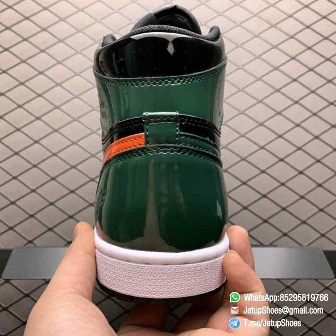 SoleFly x Air Jordan 1 Retro High OG Art Basel Friends Family AV3905 038 Black Leather upper Green Leather Overlays 07