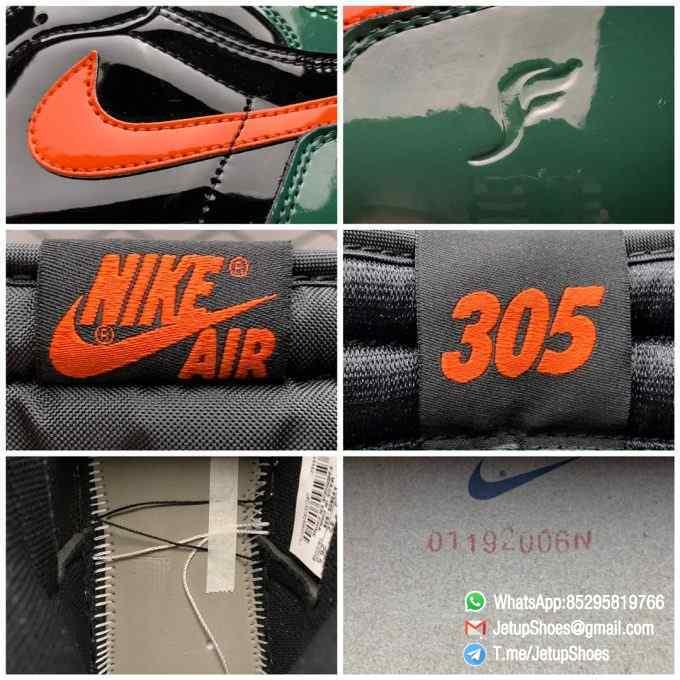 SoleFly x Air Jordan 1 Retro High OG Art Basel Friends Family AV3905 038 Black Leather upper Green Leather Overlays 09