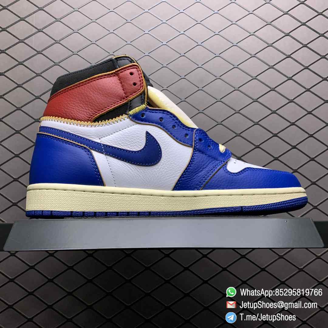 Union Los Angeles Blue Toe x Air Jordan 1 Retro High NRG Storm Blue Best Replica Shoes 02