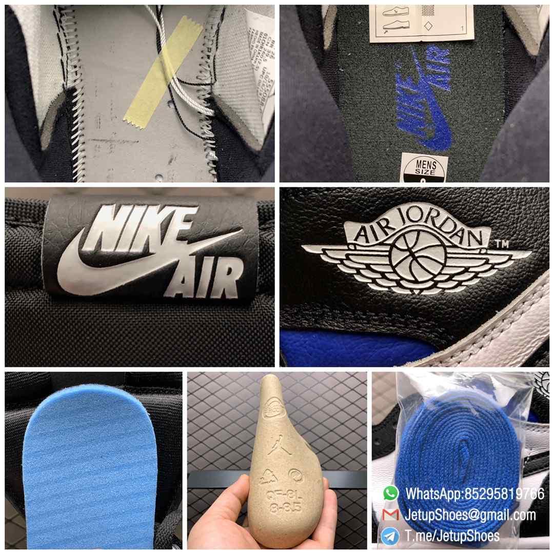 Air Jordan 1 Retro High OG Royal Toe SKU 555088 041 Best Replica Shoes Super Clone AJ1 Sneakers 09