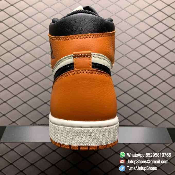 Air Jordan 1 Retro High OG Shattered Backboard SKU 555088 005 Black Laces Orange Toe Box Top Quality RepSneakers 06