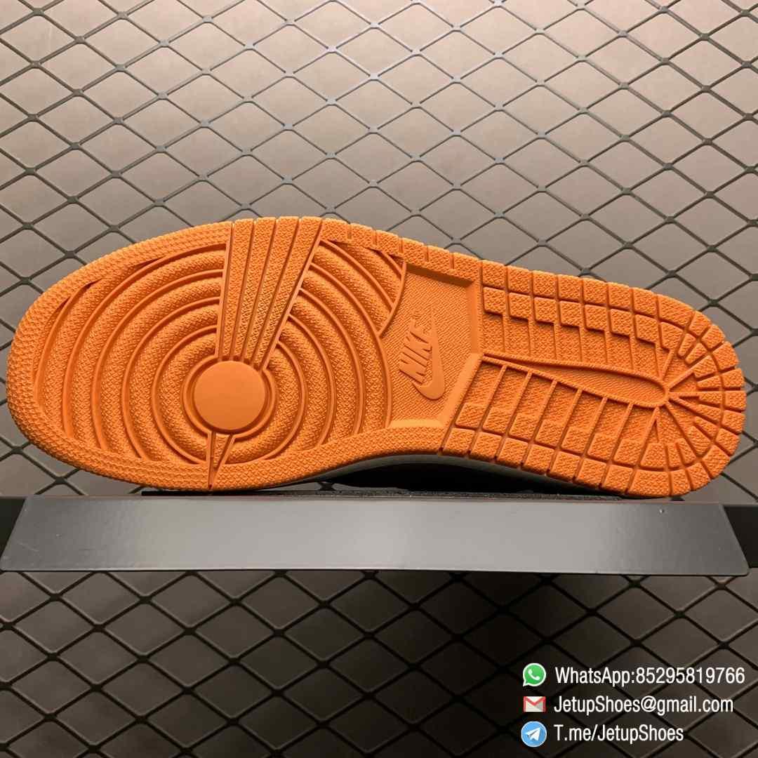 Air Jordan 1 Retro High OG Shattered Backboard SKU 555088 005 Black Laces Orange Toe Box Top Quality RepSneakers 07