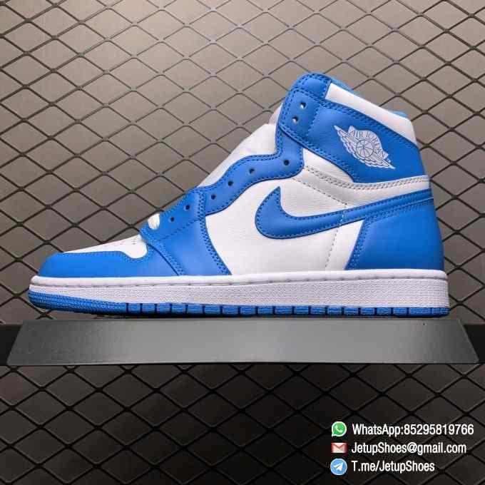 Best Replica Sneakers Air Jordan 1 Retro High OG UNC SKU 555088 117 Blue and White Colorway Top Quality RepSneakers 01
