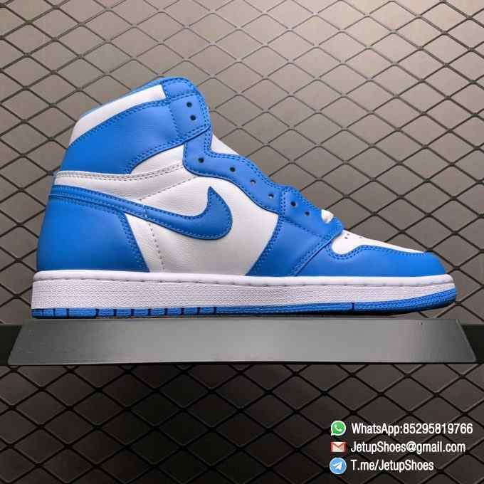 Best Replica Sneakers Air Jordan 1 Retro High OG UNC SKU 555088 117 Blue and White Colorway Top Quality RepSneakers 02