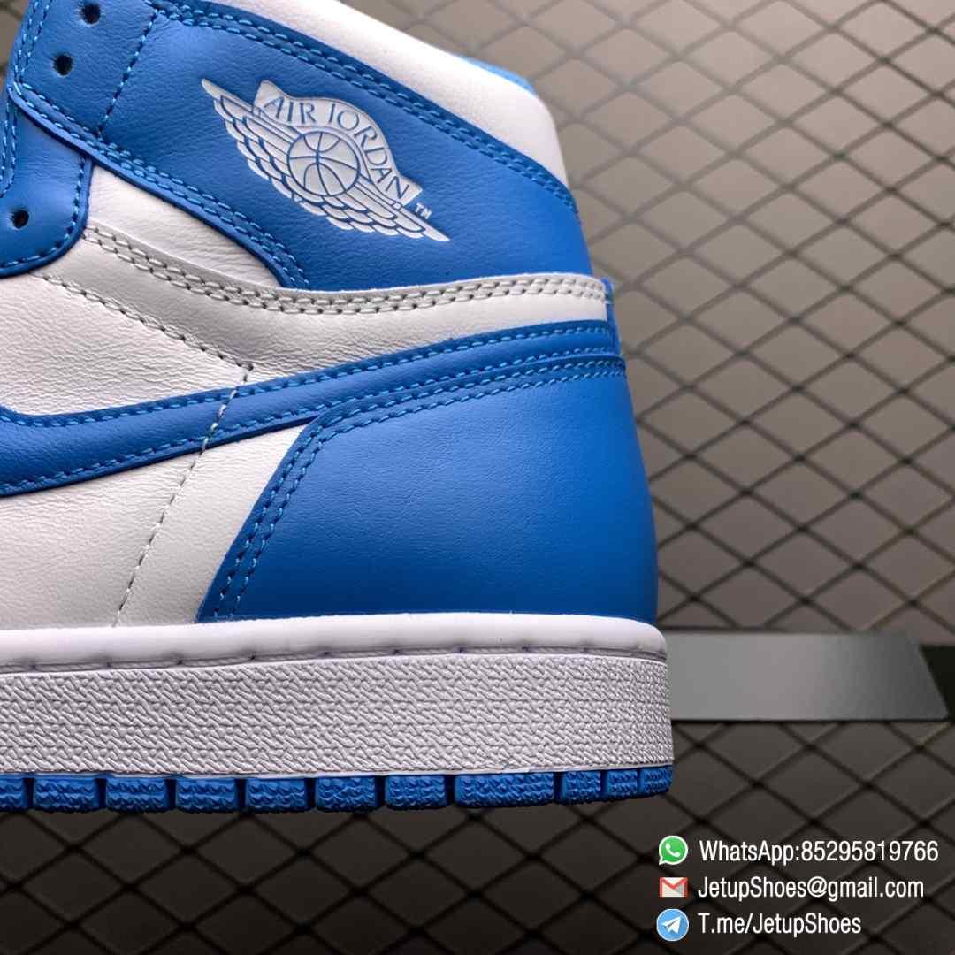 Best Replica Sneakers Air Jordan 1 Retro High OG UNC SKU 555088 117 Blue and White Colorway Top Quality RepSneakers 04